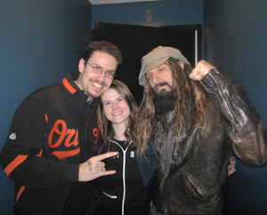 Rod and Leanne Hannah with Rob Zombie, Dec 5, 2009